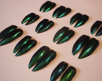 Blue/Green/Purple Jewel Beetle Wings - 12 Pairs (24 wings total) - Drilled Elytra