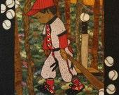 Baseball Boy Pattern:  Wall Hanging