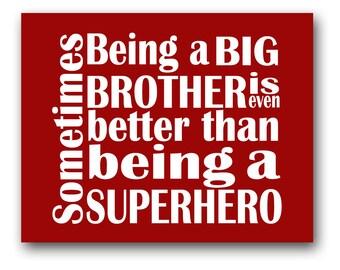 Simple Big Brother Superhero Print