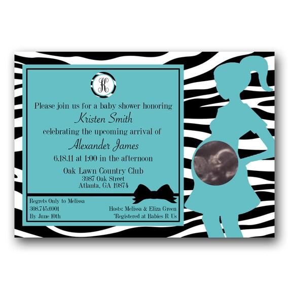 Items similar to Baby BOY Zebra Baby Shower Invite on Etsy