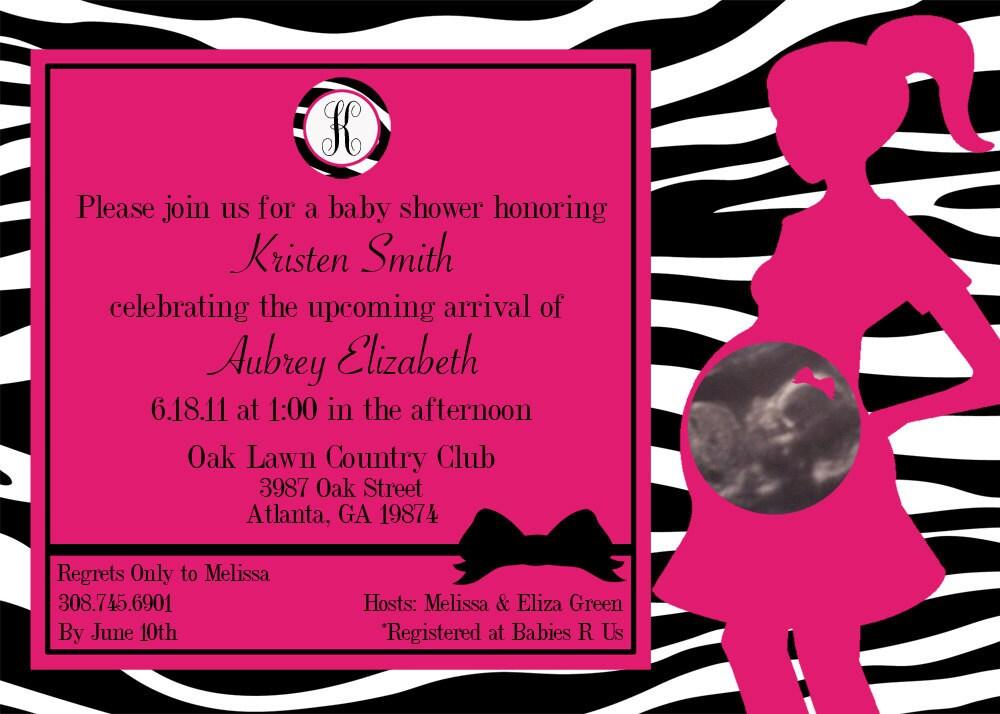 Pink Zebra Invitations is awesome invitation design