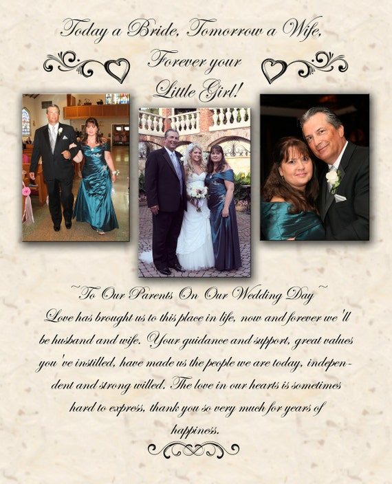 Wedding Thank You Gifts Unusual : Unique Wedding Parent Thank You Photo Gift