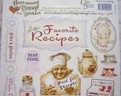 Kitschy & Kitchen Retro Cooking Labels Vintage Stickers Ephemera Set of 35 Pieces