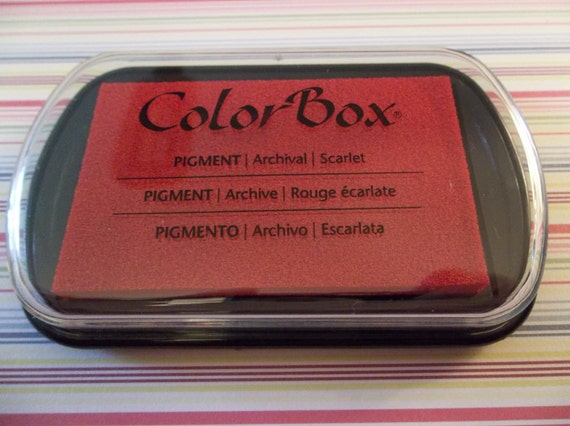 Scarlet Red ColorBox Full Size Pigment Ink Pad - Archival Safe & Acid Free
