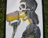 Drunken Pirate Skeleton No. 1