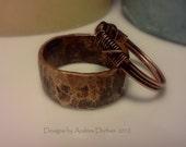 Wide Copper Band, Rustic, Organic Healing Ring Custim order