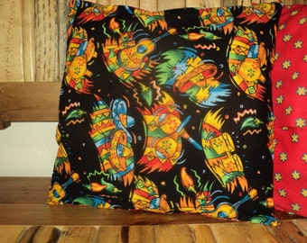 SALE.Set of 2. Bar Room Accent Patio Party Time Decorative Mexican Inspired Pillow Covers. Dorm Sorority Fraternity  Gifts for Men.