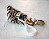 Baby Bottle Tether All-In-One Halo Tether (Silver/Brown Zebra)