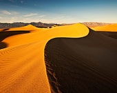 Dramatic Light on Death Valley Sand Dunes - 5x7 Photo - Print Only