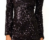 Party After Prom Sequin Black Dress