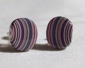 PARKLANE Rare Dagenham Fordite Silver-plated Stud Earrings
