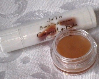 Homemade Lip Balm Caramel Flavor, Moisturizing For Dry Lips