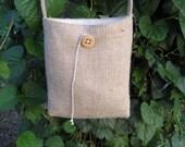 Burlap Shoulder Bag - Small