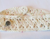 Off White Speckled Shell Headband