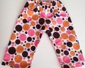 "Pajama Bottoms  Fits American Girl 18 inch doll- ""RETRO POLKA DOT"" matches Am. Girl Sleeping Bag."