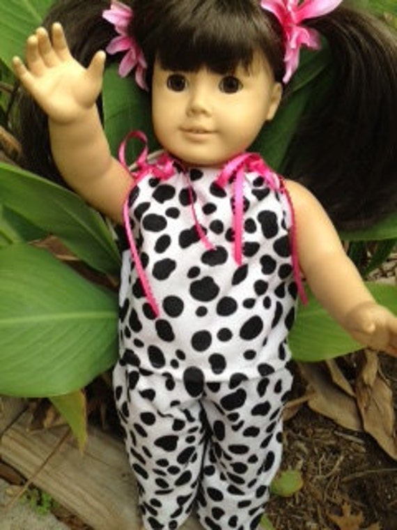 """Megen's Custom Order. Doll Pajama's or pants and top """"PAJAMA PARTY""""  Fits 18"""" American Girl Doll. Also matching Doll Sleeping Bag."""