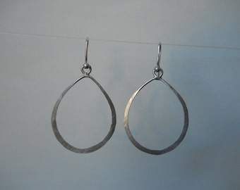 small sterling tear drop earrings
