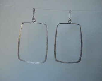 large hammered sterling earrings