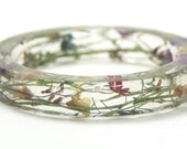 Flower Bracelet- Flower Bangle- Flower Jewelry - Real Flower Bracelet- Resin Jewelry- Bracelet- Dried Flowers- Bangle