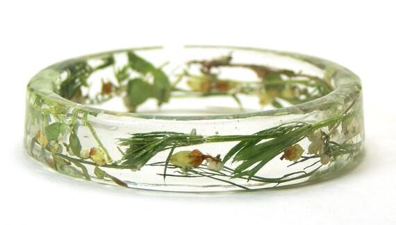 Emerald Green Jewelry-Green Bracelet- Flower Bracelet- Flower Jewelry- Resin Jewelry- Jewelry for Summer- Green Foliage- Green Jewelry