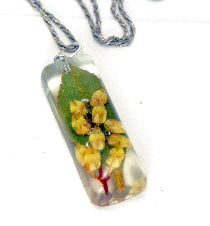 Real Flower Jewelry Dried Flower Jewelry Flower Pendant