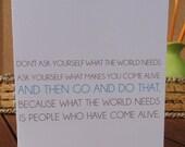Come Alive - Quote Card