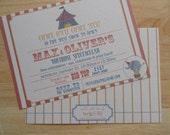 Vintage Circus Birthday Invitations