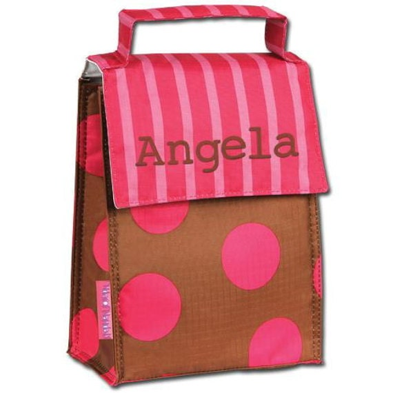 LAST ONE ... Personalized Insulated Folding Lunch Sack Stephen Joseph