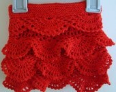 Red Crochet Baby Skirt