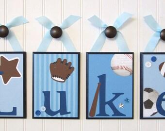 Name Blocks . Nursery Name Letters . Baby Name Blocks . Hanging Name Blocks . Sports . Football Baseball Soccer Basketball . Luke