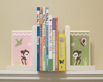 Nursery Bookends . HAND BEVELED EDGE . Boutique Bookends. Custom Bookends. Room Decor . Matching Name Blocks . Willow Organic