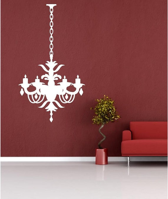Vinyl Wall Art Decal - Chandelier 1  with extra chain -