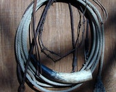 Western Decor Old Horse Items Braded Leather Lead, Whip and More