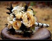 Rustic Wedding Bridal Bouquet  Ready to Ship