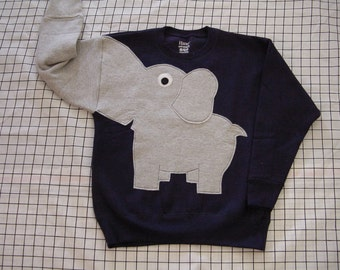 NEW Elephant Trunk sleeve sweatshirt sweater jumper KiDS M,L Navy