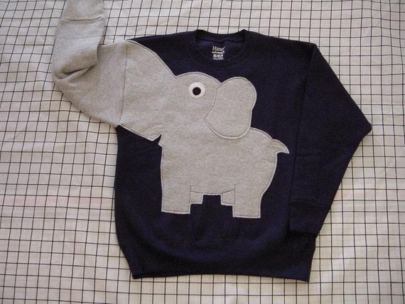 NEW Elephant Trunk sleeve sweatshirt sweater jumper KiDS XS,S,M,L,XL Navy