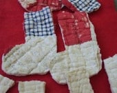 Cutter Quilt Christmas Stocking Appliqués, Primitive Bowl Fillers, Craft Supply Sale