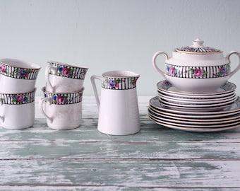 British Anchor pottery tea set