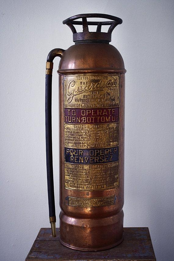 Bilingual copper fire extinguisher
