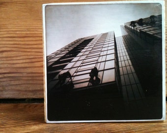 "Elliot Brown Block 4"" X 4"" - Window Washers In Sepia"