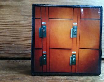 "Orange Lockers Photo Block 4"" X 4"""