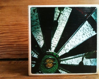 "Dart Board Photo Block 4"" X 4"""
