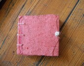 Mini book/Art Journal pink - Handbound Watercolor Pages - Support Education in Haiti