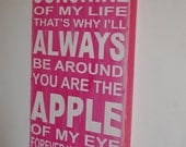 You are the sunshine of my life sign - handcrafted and handpainted wood sign