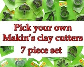 Brand New Pick your own 7 piece Makins Clay cutter set HC143