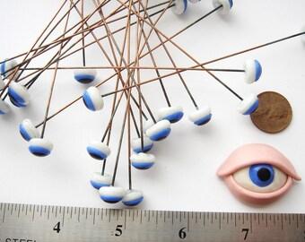 10 millimeter vintage glass blue eyes HC014.