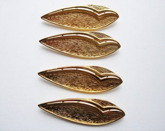 4 Vintage Gold toned Modern Brooches HC081.
