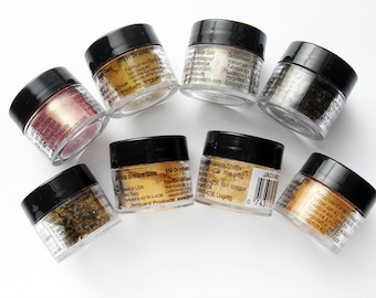 9 piece Brand New All the Golds Pearl ex Powdered Pigments Set HC182