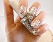 Icelandic Glitter Nail Polish - Glitter Blended 3 Free Custom Nail Polish, Silver Glitter