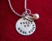 Custom Sterling Silver Hand Stamped Tag Necklace
